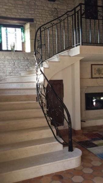 garde corps et rampe d 39 escalier fer forge un arbre et la nature. Black Bedroom Furniture Sets. Home Design Ideas