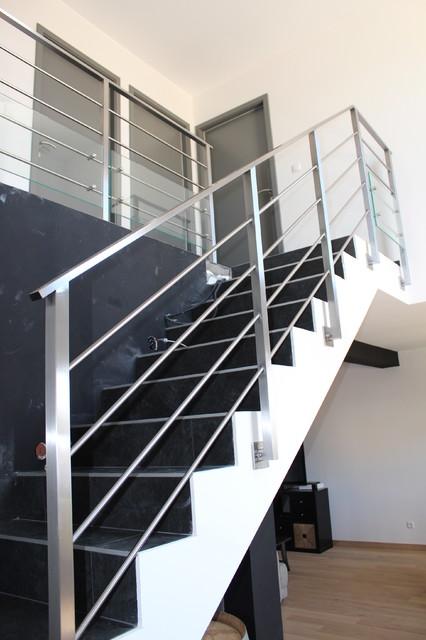 Garde Corps Inox Verre Moderne Escalier Marseille