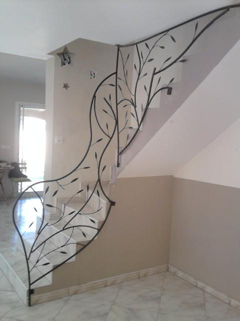 Garde corps rambarde balcon contemporain escalier for Rambarde escalier interieur