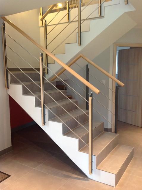 Habillage et garde corps pour escalier b ton contemporain escalier stra - Escalier colimacon beton prix ...