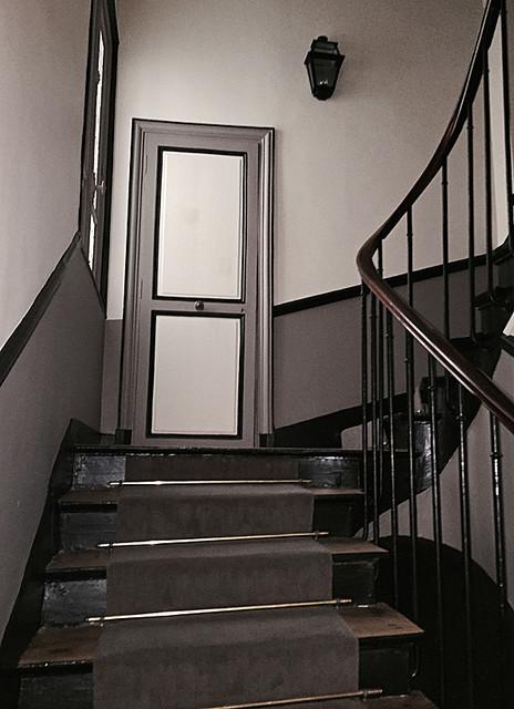Immeuble paris vi classique chic escalier paris - Renovation cage d escalier immeuble ...