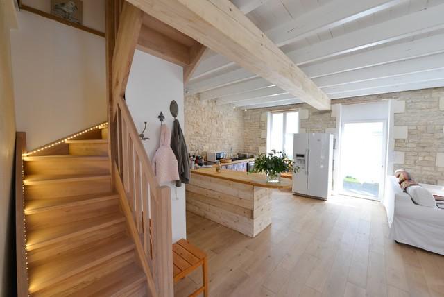 Jolie maison et beau parquet massif l 39 le de r - Centre bois massif ...