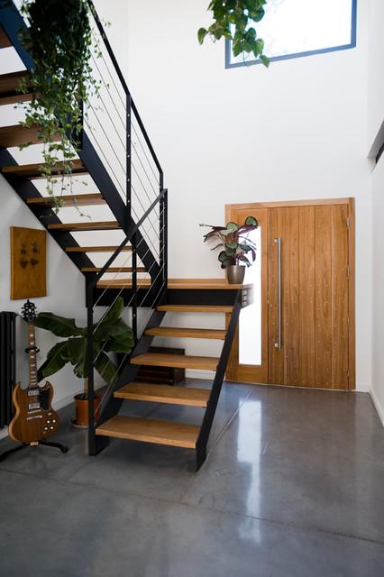 la maison de claudine et laurent contemporary staircase montpellier by coo architectes. Black Bedroom Furniture Sets. Home Design Ideas