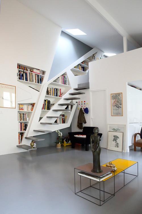 10 Conseils De Pro Pour Combiner Escalier Et Bibliotheque