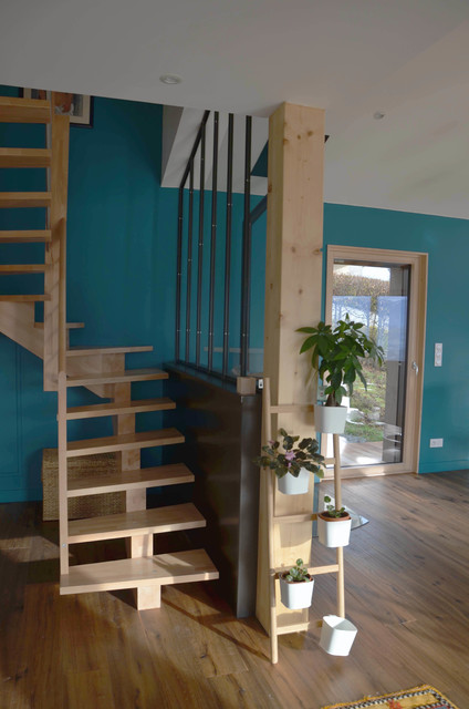 Ma Maison Ma Planete Et Moi Transitional Staircase Saint Etienne By Sur Mesure Houzz Ie