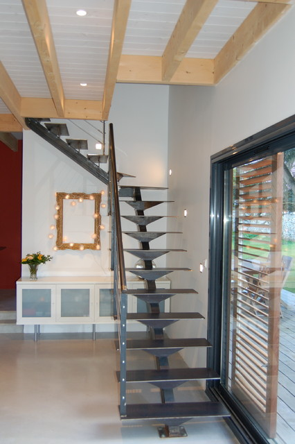 Maison bois contemporaine  Contemporary  Staircase  other metro  by isabe