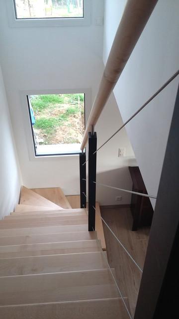 Maison contemporaine rennes contemporary staircase for Constructeur maison contemporaine rennes
