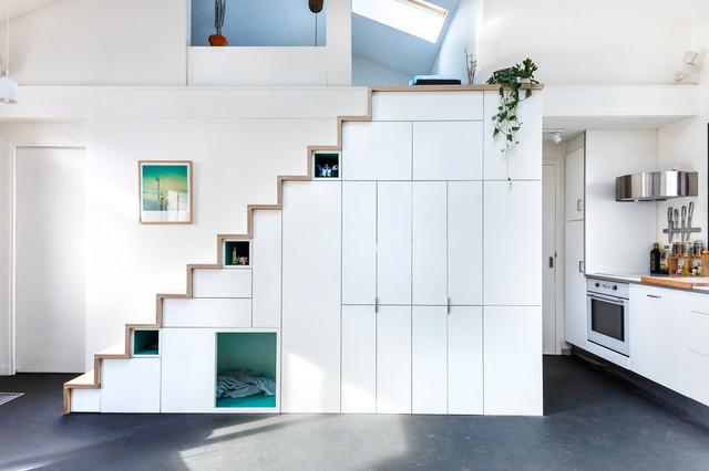 maison d 39 architecte moderne escalier paris par thibault pousset. Black Bedroom Furniture Sets. Home Design Ideas