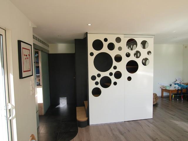 raccord avec cuisine contemporain escalier rennes par le faiseur de choses. Black Bedroom Furniture Sets. Home Design Ideas