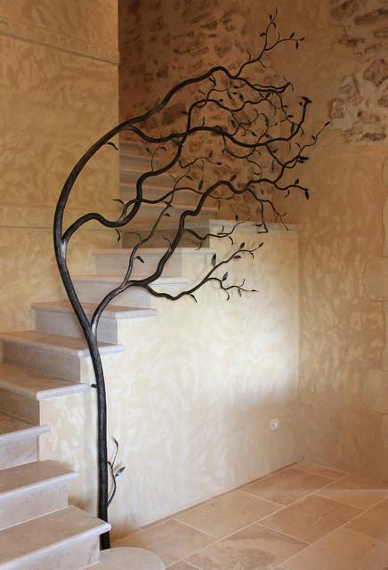 rampe d 39 escalier campagne escalier other metro par atelier rouge cerise. Black Bedroom Furniture Sets. Home Design Ideas