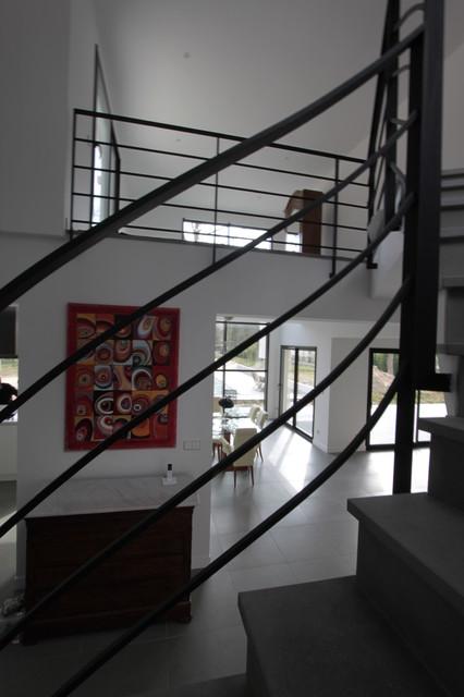 Rampe D Escalier En Acier Noir Mat Sur Mesure Maison