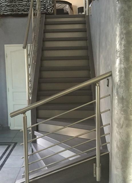 r novation d 39 escalier et garde corps aluminium. Black Bedroom Furniture Sets. Home Design Ideas