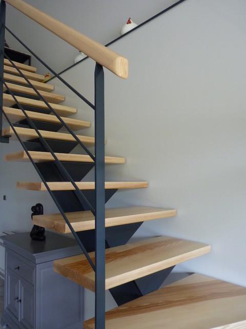 R novation d 39 un s jour avec mezzanine grisolles 82 - Escalier ouvert salon ...