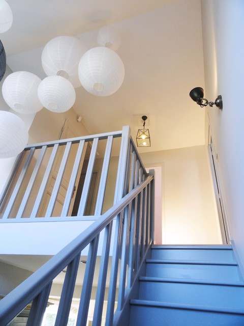 R novation d 39 une cage d 39 escalier contemporain escalier other metro par agence ine for Cage escalier