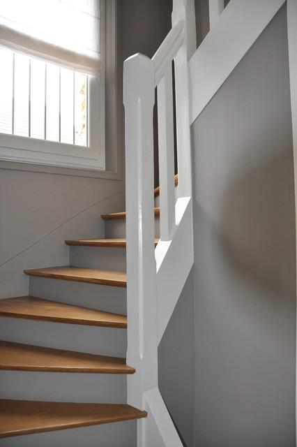 Rénovation d\'une cage d\'escalier - Contemporain - Escalier ...