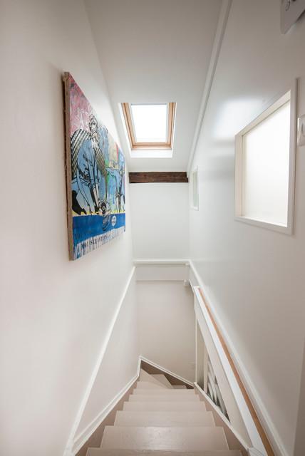 r novation d 39 une maison en meuli re contemporain escalier paris par adc l 39 atelier d 39 c t. Black Bedroom Furniture Sets. Home Design Ideas