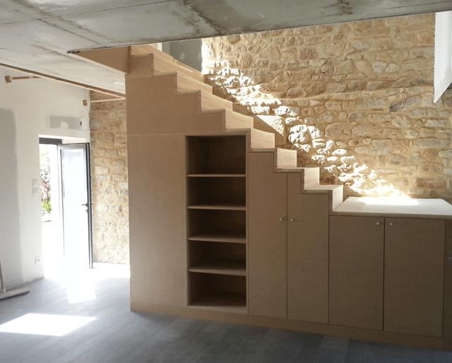 Rénovation extension d'une longère - Contemporain ... - Renovation Longere