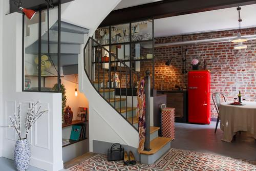 une verri re d 39 atelier. Black Bedroom Furniture Sets. Home Design Ideas