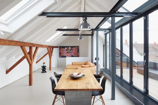 ausbau einer dachgeschosswohnung zur maisonette modern. Black Bedroom Furniture Sets. Home Design Ideas