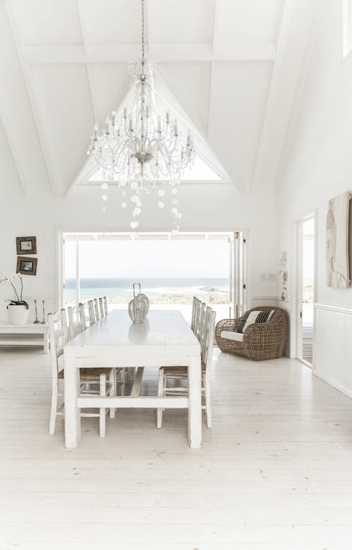 Photo By André Becker U2022 Photography U2013 Search Beach Style Dining Room Design  Ideas. Germany. White Is The Hallmark Color Of Hamptons Coastal ...