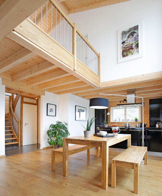 Contemporary Timber Houses   Interiors Modern Esszimmer