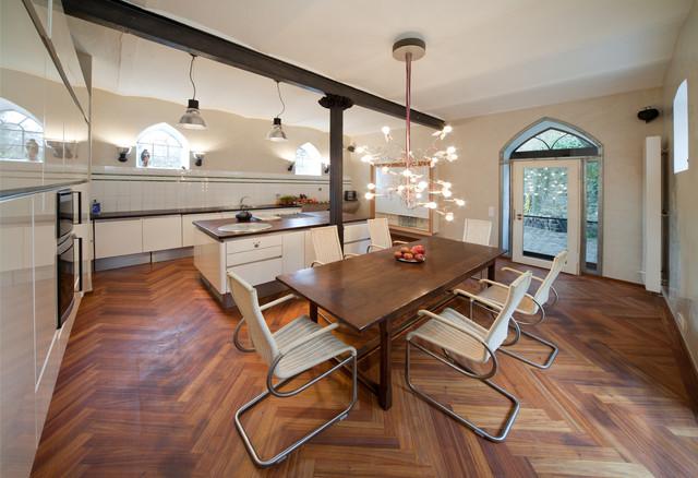 Ess-Küche veredelt mit Marmorputz - Mediterran - Esszimmer - Bonn ...