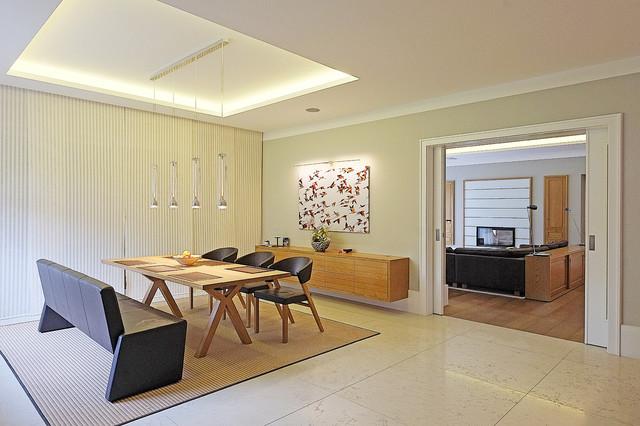 Essbereich Und Wohnzimmer Contemporary Dining Room