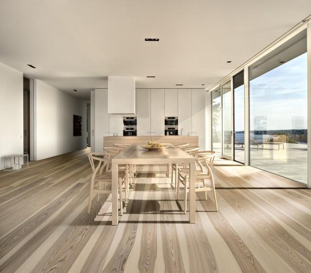 Holzboden Modern esszimmer mit hellem holzboden modern esszimmer stuttgart