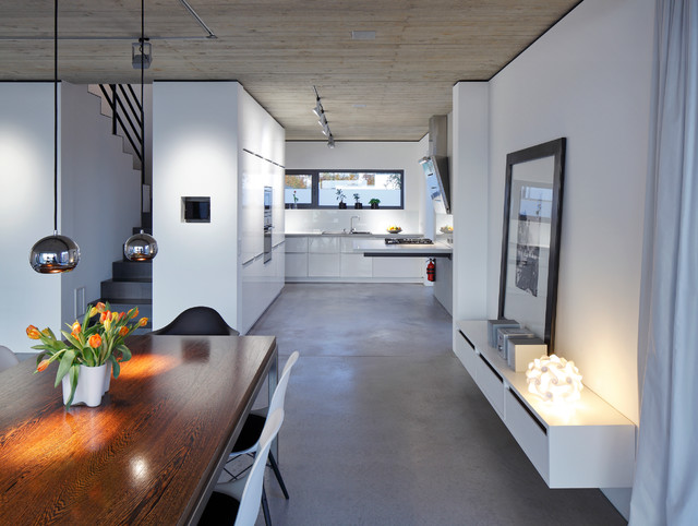 haus p contemporary dining room dortmund by hans quot divided lands quot dining table in etched zinc and elm smoke