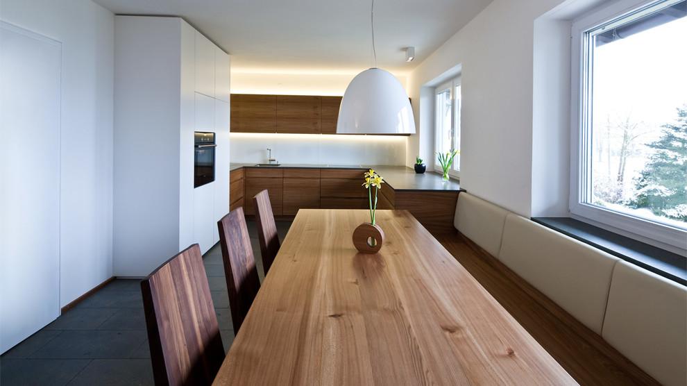 Küche und Esszimmer in Rüster   Contemporary   Dining Room   Munich   by Held Schreinerei ...