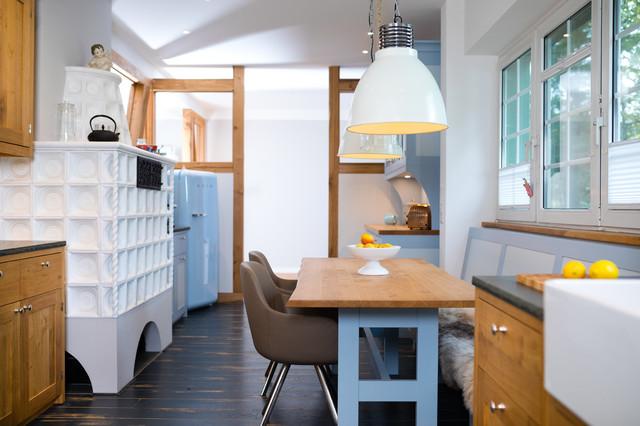 Landhausküche eiche scandinavian dining room