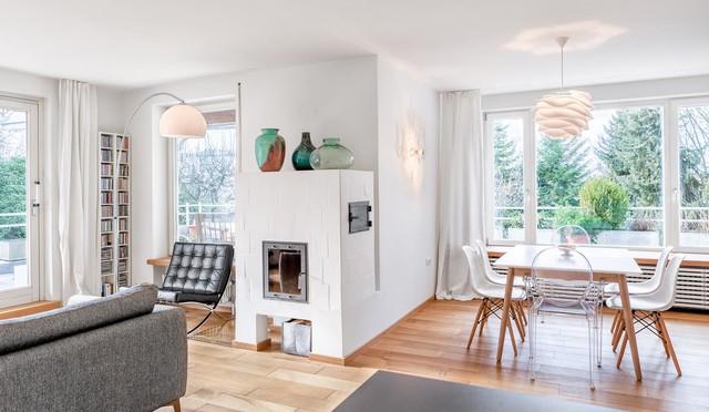 Offener Wohnraum In Skandinavischem Stil Skandinavisch Esszimmer