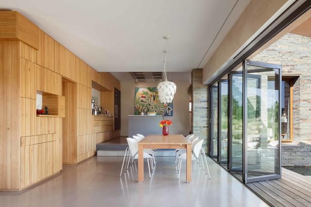 Glas faltwand highline minimalistisch esszimmer - Esszimmer bremen ...