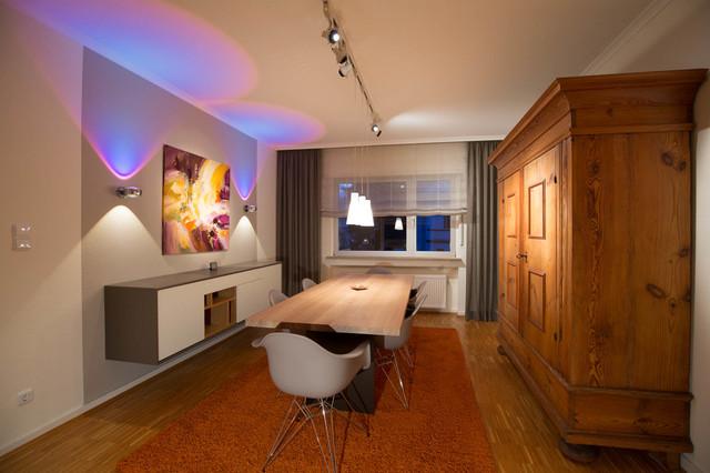 gestaltung der wohnr ume in einem frankfurter stadthaus modern esszimmer other metro von. Black Bedroom Furniture Sets. Home Design Ideas