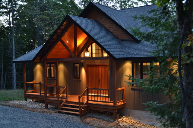 1800 Sq Ft Chalet Traditional exterior