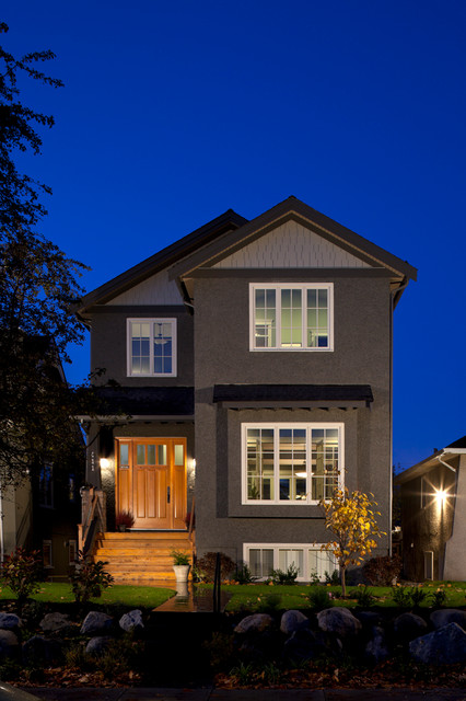 100% Full Custom Home in Vancouver contemporary-exterior