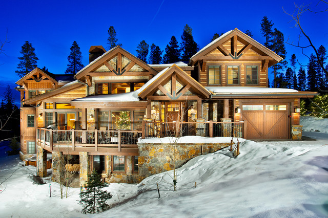 1296 ski hill road exterior traditional exterior for Mountain home builders colorado