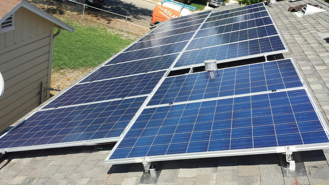 17 panel solar panel system in mission hills traditional