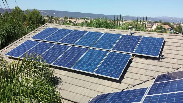17 panel solar system installation in los angeles