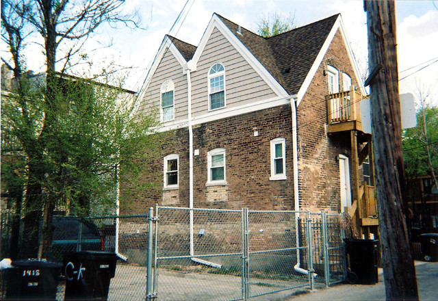 1890s coach house renovation, Chicago, IL traditional-exterior