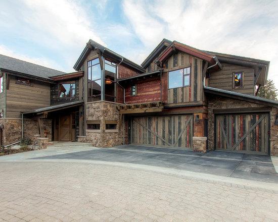 Rustic garage door home design ideas pictures remodel for Rustic mountain homes