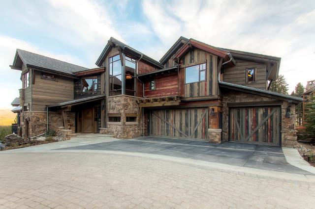 19 Peak Eight Circle Exterior Rustic Exterior Denver By Pinnacle Mountain Homes