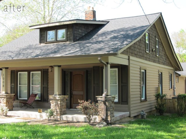 1930s bungalow flip in east nashville traditional for Before after exterior 1930