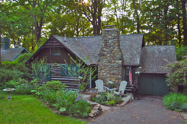1934 Lake Mohawk Nj Log Cabin For Sale Rustic Exterior
