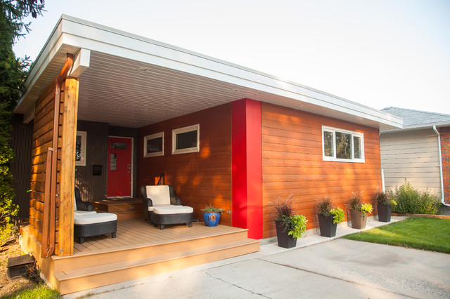 1970's Bungalow Exterior Renovation - Modern - Exterior ...