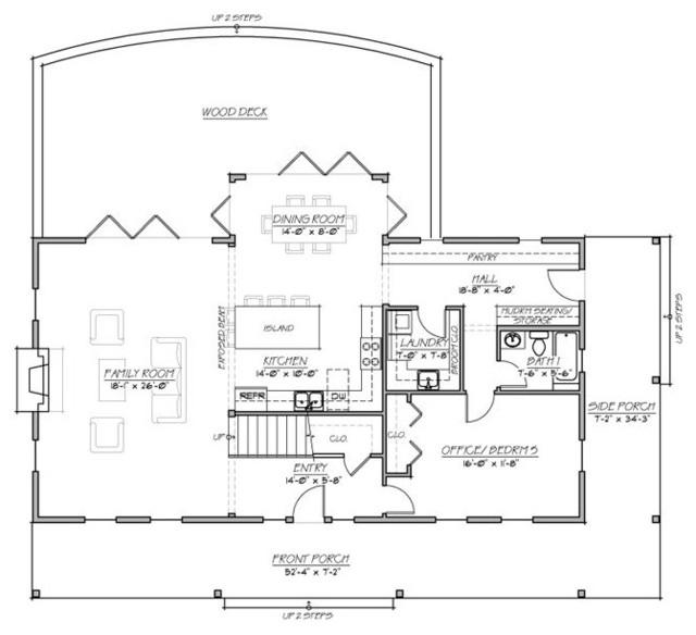 1st Floor Floor Plan Traditional Exterior Other