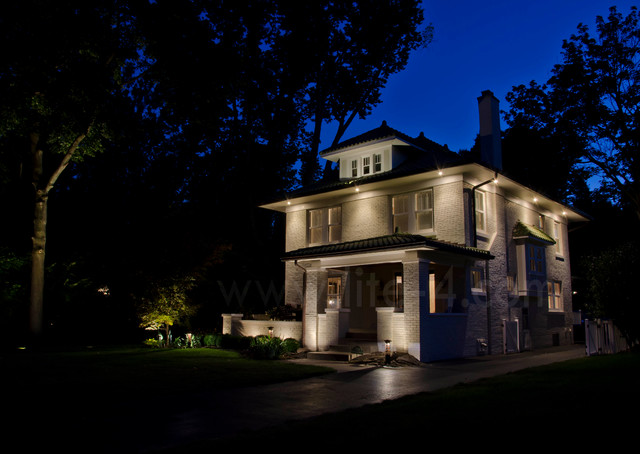 2 Story Renovation Traditional Exterior Indianapolis By Lite4 Outdoor Lighting