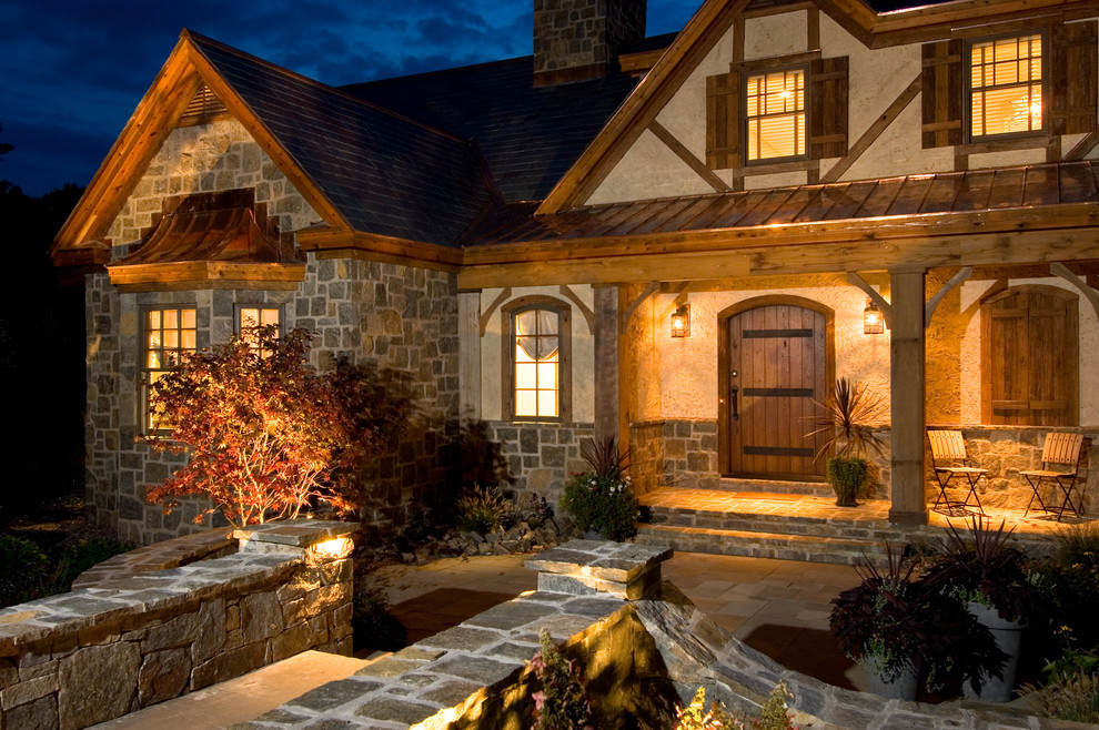Inspiration for a rustic exterior home remodel in New York