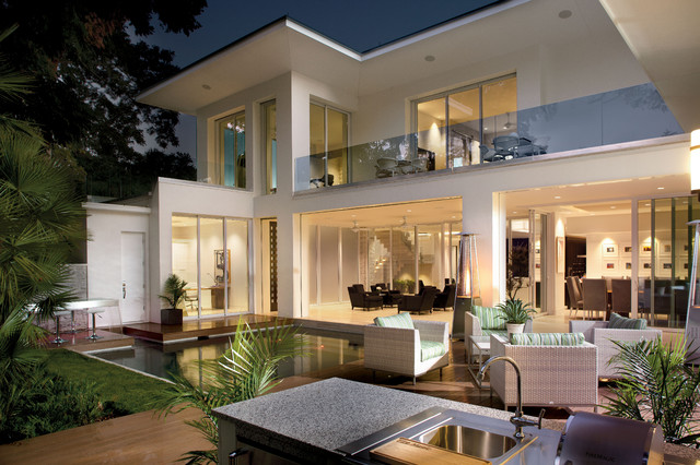 contemporary exterior by phil kean designs - New Contemporary Home Designs