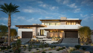 2013 New American Home - Contemporary - Exterior - las vegas - by Phantom Screens